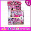 2016 Pretesnd toy wooden doll house for children W06A101-A25