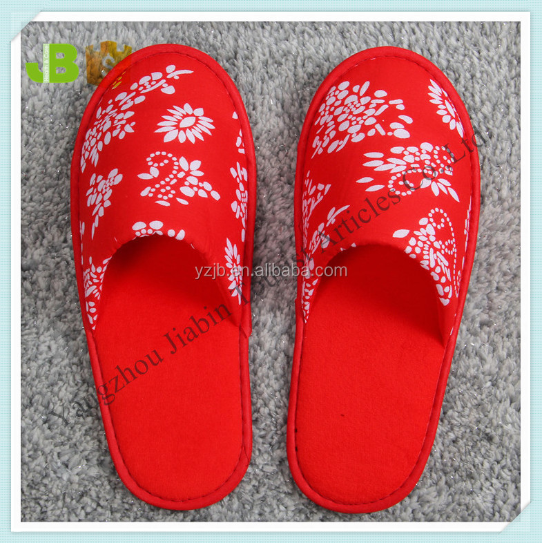 Festival wedding red indoor women slippers with eva sole for home use