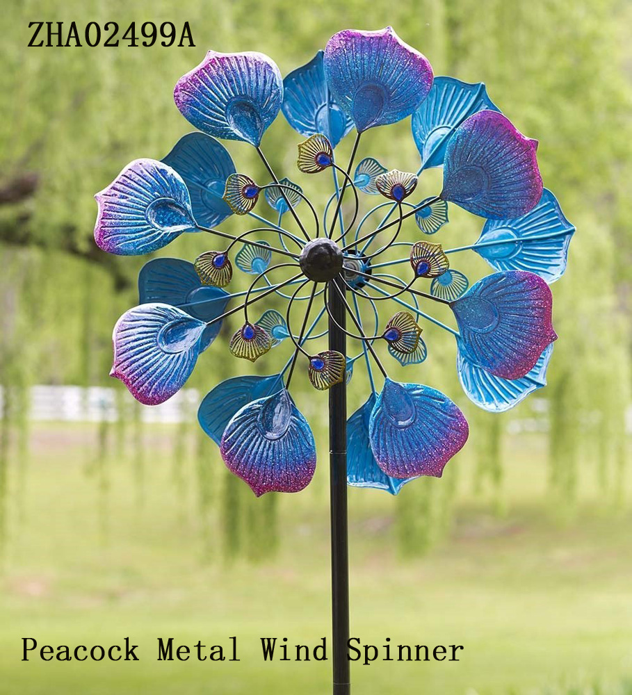 New Windmill Metal Wind Spinners Garden Stake Yard Decor Art Ornament