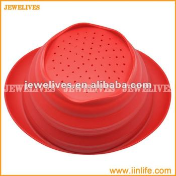 User friendly silicone collapsible bowl,silicone bowl with watering hole