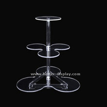 Wholesale Clear Acrylic flower shape Cake Pop Stand