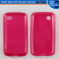 High Quality Glossy TPU Case For LG Optimus L4 II E440 Protector Case