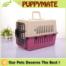 Plastic colors pet dog carrier pet flight cage for sale cheap
