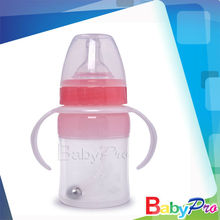 different sizes plastic baby bottles with handle