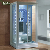 Aluminium Alloy frame material rectangle tray shape computer comtrolled steam shower room