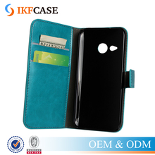 Retro PU Leather Phone Case For HTC One M8 Mini Stand Flip Wallet Phone Cover With Card Holder