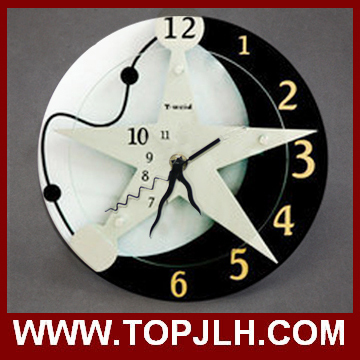 Fashion 2015 New Luxury Wall Clock High Quality Wholesale Sublimation Clocks