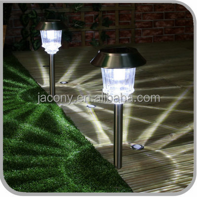 Outdoor stainless steel Ultra bright solar garden lamp light for landscape Backyard Courtyard pathway