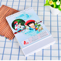 high quality mini 25 pages folding paper table calendar