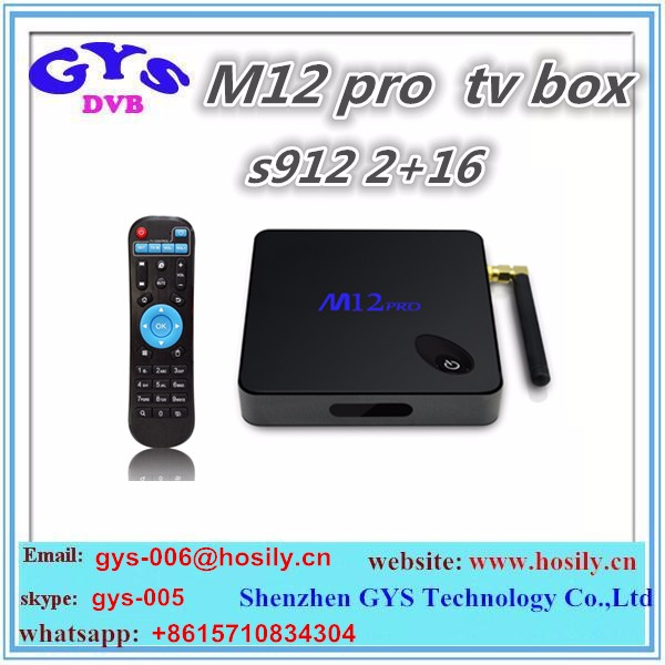2016 Smart Android 6.0 TV Box M12 Pro best upgrade media player firmware android smart tv box5.0 set up box