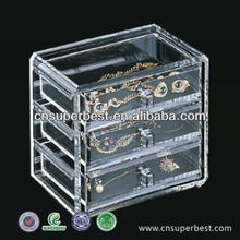 Made in China customized acrylic jewelry storage box