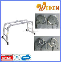 2.6m aluminum folding ladder four parts en131 european standard telescopic ladder