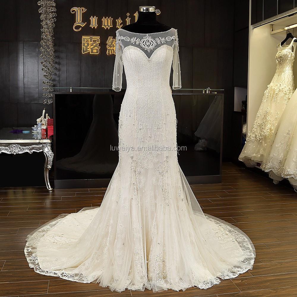 Alibaba hot sale backless wedding dress for bridal mermaid for Backless wedding dresses for sale