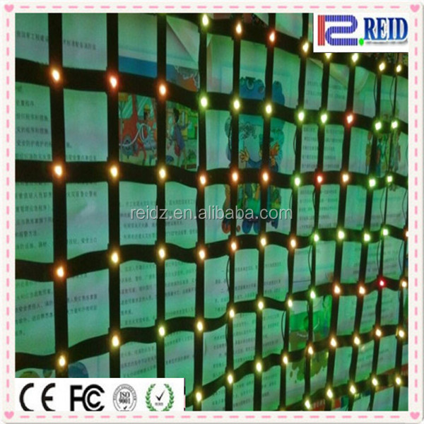 Indoor stage background flexible soft mesh net led strip video screen