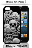 Skeleton 3D Flash Case for iPhone 5S PC Hard Case