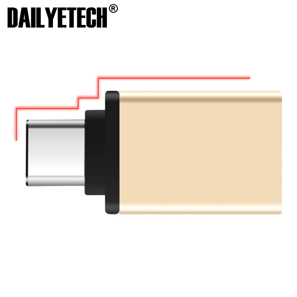 Type <strong>C</strong> to USB3.0 A Female Adapter OTG Data Sync Metal Head Adapter from DAILYETECH