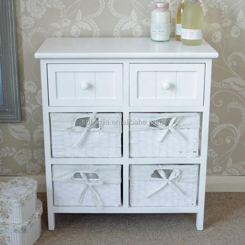 white wicker storage unit 4 basket 2 drawer storage cabinet for home decoration buy storage. Black Bedroom Furniture Sets. Home Design Ideas
