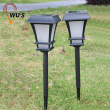 3V 0.2W 3D effects outdoor garden stainless led lawn light plastic garden solar lawn light