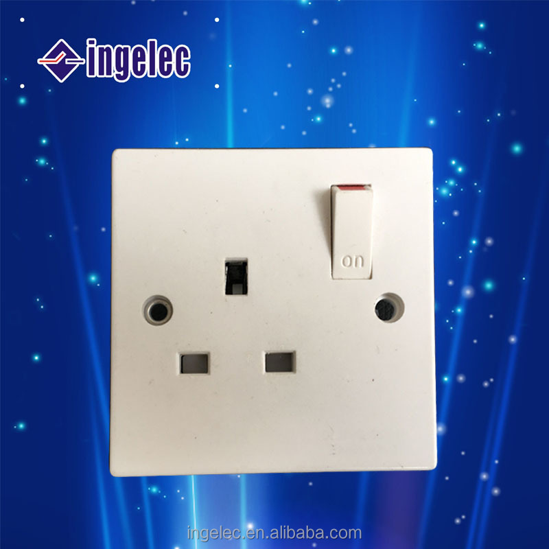Yiwu factory supply 13 amp switched socket electrical power switched sockets