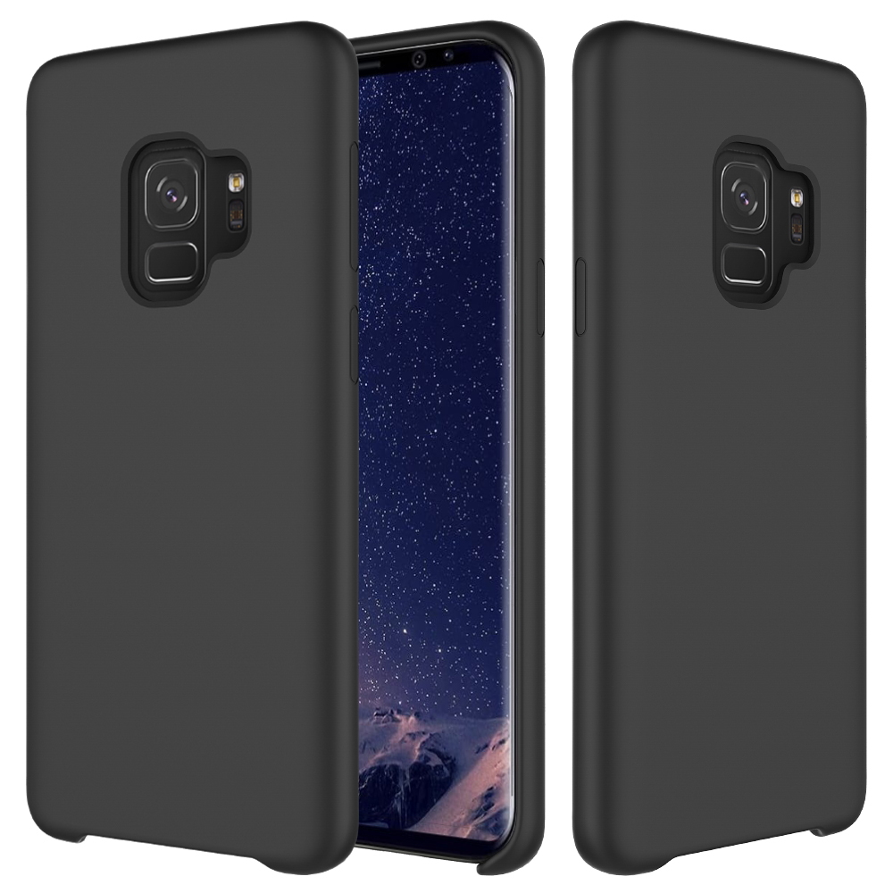 For Samsung s9 Case, Flexible TPU Soft Skin Silicone Cover For Samsung Galaxy S9 Plus Case (Black)