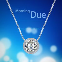 Fashion factory price moissanite necklace lab grown diamond necklace women jewelry