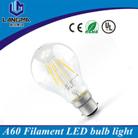 Energy Class A 220V Clear Glass B22 2700K 6W LED Filament BC GLS Bulb
