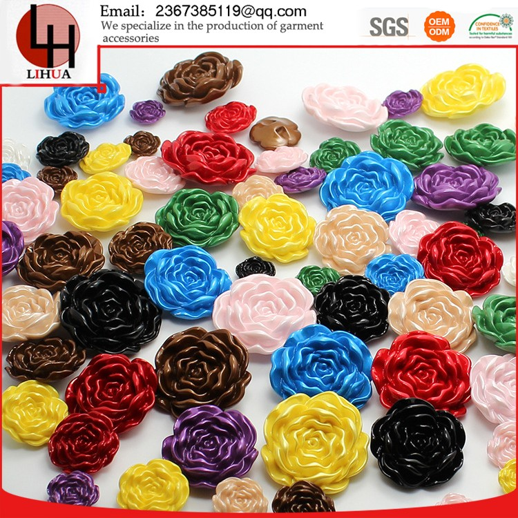 Customized colour rose shape sofa polyester buttons beautiful Eco-Friendly Ornament