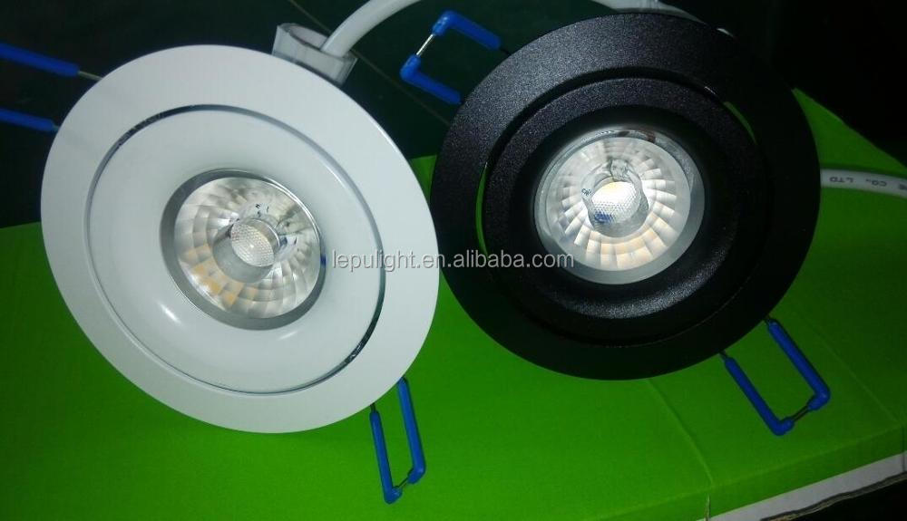 2700k 3000k dimmable 0-100% 83mm hole cob led downlight born for Nordic market with real high quality