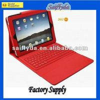 Leather wireless Bluetooth Keyboard for iPad 2 / 3