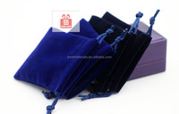 2013 China Velvet Bags And Pouches With Drawstring 2inch * 3inch can custom logo in stock