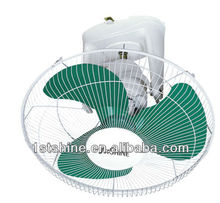 16 inch electric wall mounted orbit circulation fan with metal blades