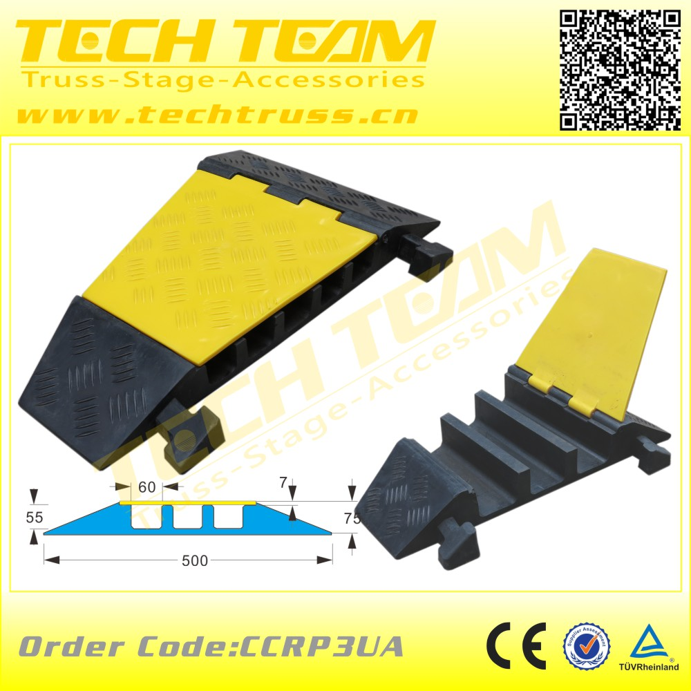 3 channel Angle of cable protection cover, cable cover for floor