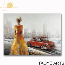 Modern abstract human figure oil painting abstract oil painting for living room