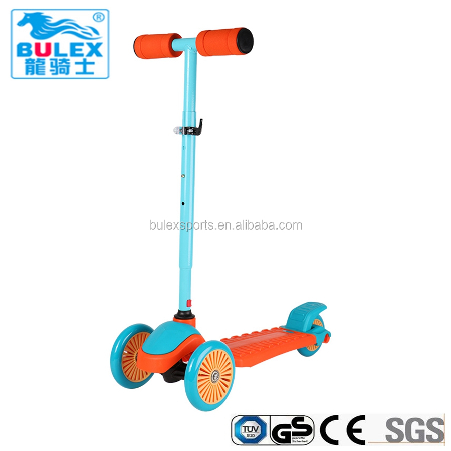 CE approved safe push 3 wheel motorcycle scooter for big kids