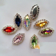 13*18mm Glass Crystal Rhinestone Tear Drop Point back Faceted Glass Jewels