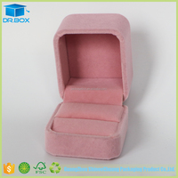 2017 gift set folding jewelry box/plastic ring box for ring box wooden