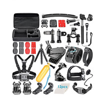 2017 Hot Sale 50 in 1 Gopros Accessories Set for GoPros Heros 5 3+ 4 SJ9000 Xiaomis Yi and Other Action Camera