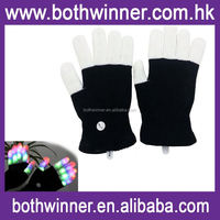 Party supply flashing led gloves ,H0T463 led magic glove , glow in the dark 12 colors led glove