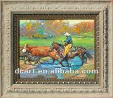Reproduction Art Oil Painting Of Cowboy