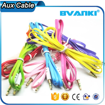 2016 innovative products for sell factory price 3.5mm plug 3.5 aux to rca 3.5mm Aux Cable free samples