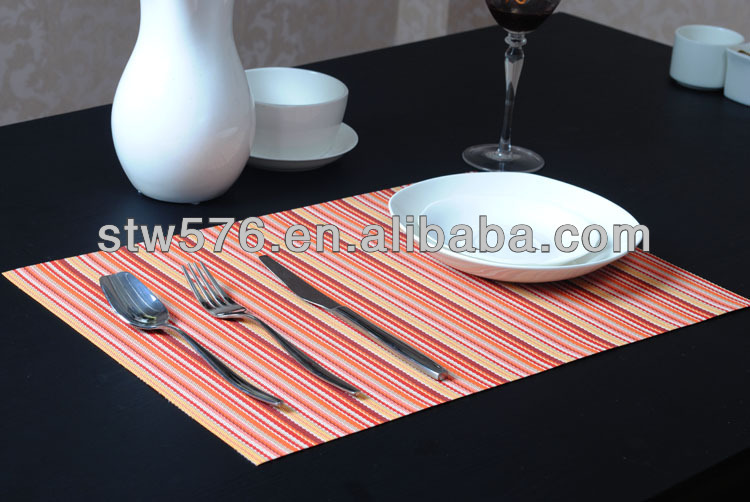 2016 decorative woven fabric table mat/ placemat