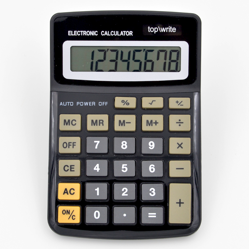Y-1306 customized dual power office calculator 8 digits