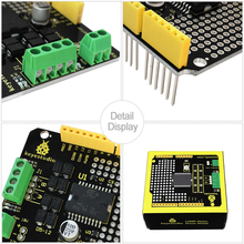 Keyestudio L298P Shield 2A High Current Dual DC L298P Motor Shield Board for Arduinos