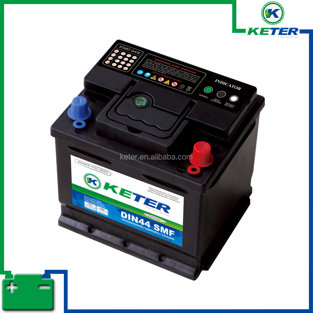 Keter brand DIN100 SMF 12v100ah car battery whole price
