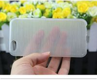 Fashion Soft TPU Silicon Rubber Wire Drawing Clear Transparent Case Cover For iPhone 6 4.7""