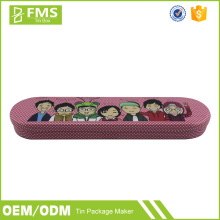 Wholesale Promotional Custom Printed Kids Metal Tin Pencil Case With Compartments