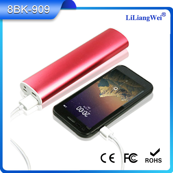 Manufacturer wholesale beautiful phone battery pack 8800mAh with LED flashlight