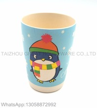 Great cute penguin printing bamboo fibre drinking cup for children