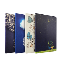 Draw cartoon character sleeping case for grils 10inch color for ipad 234 tablet cover pc