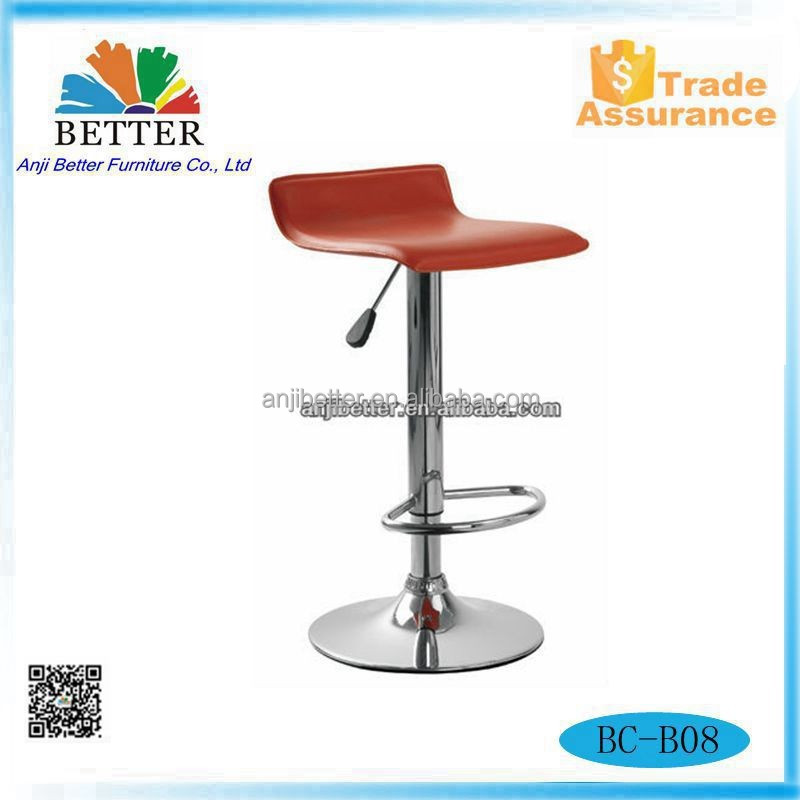 Better Hydraulic Bar Stool With Faux Leather